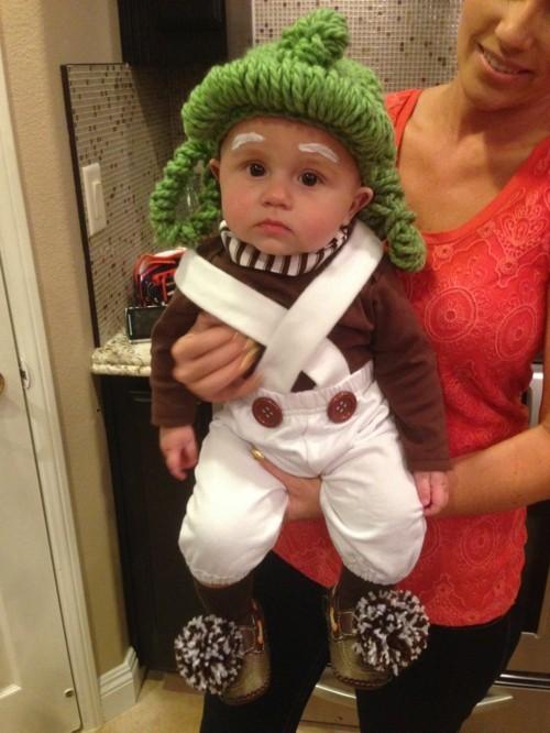 Oompa Loompa baby karneval kostüm idee