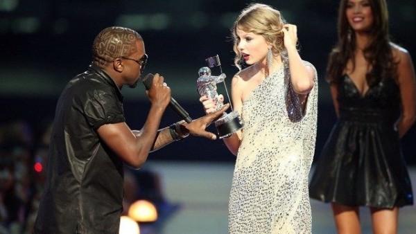 Streit zwischen Taylor Swift und Kanye West auf der Bühne
