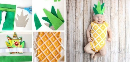 ananas baby karneval kostüm