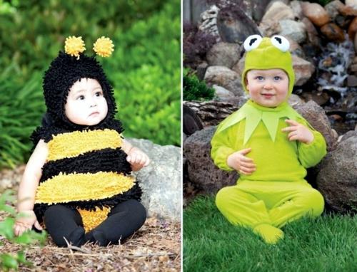 fasching baby karneval kostüm biene frosch