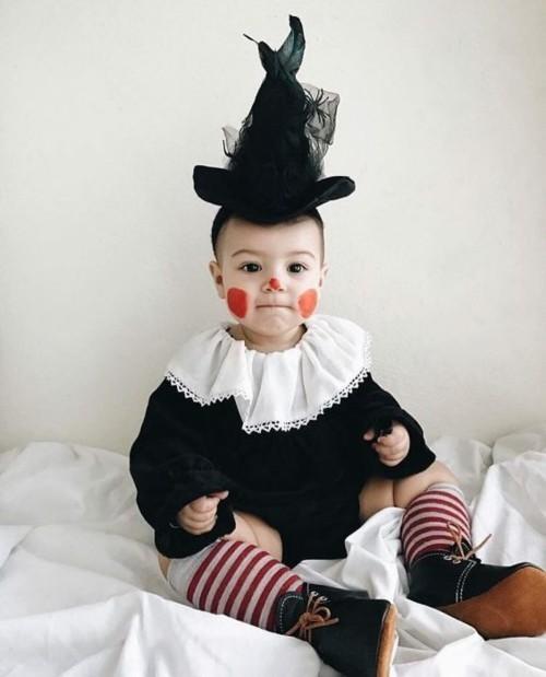 baby karneval kostüm clown hexe