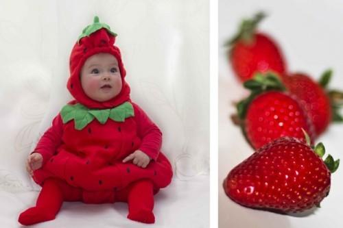 baby karneval kostüm erdbeere idee