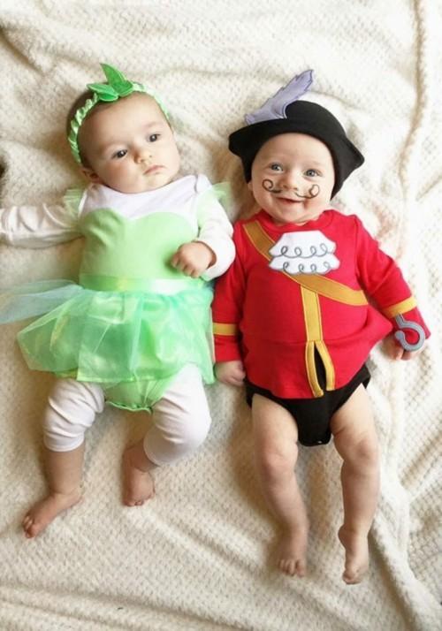 baby karneval kostüm idee für zwillinge