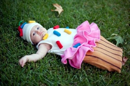 baby karneval kostüm ideen cupcake