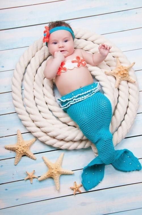 baby karneval kostüm kleine meerjungfrau