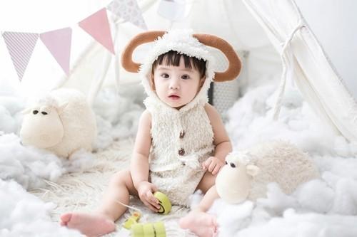 baby karneval kostüm schaf selber machen