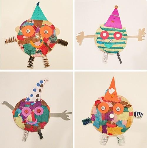 basteln mit kindern zum karneval clown