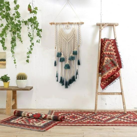 berber teppiche makramee einrichten im boho style