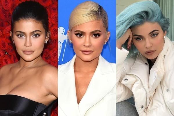 blaue haare kylie jenner haarstil