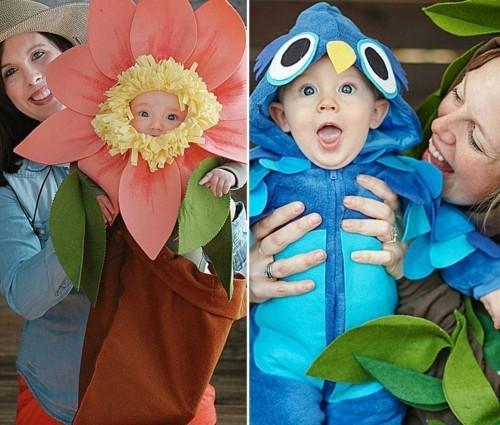 blume vogel baby karneval kostüm