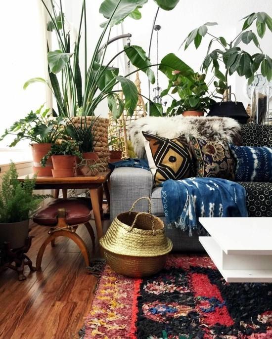 boho style bunte einrichtungsideen fürs wohnzimmer