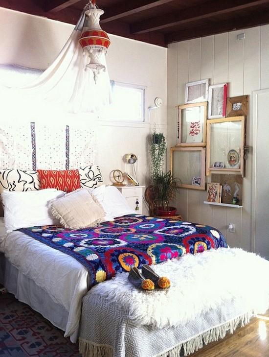 boho style einrichten schlafzimmer ideen