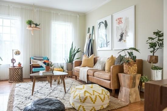 boho style einrichtungsideen wohnzimmer