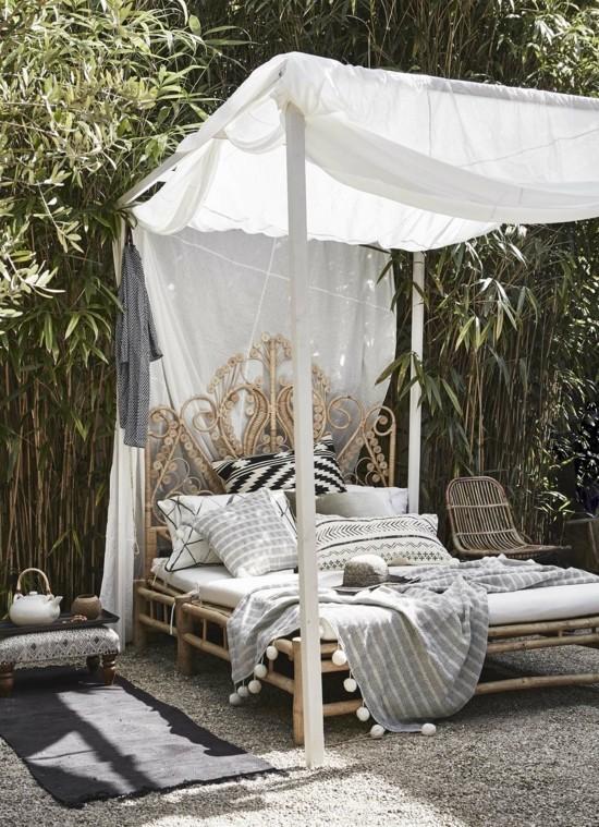 boho style lounge im garten einrichten