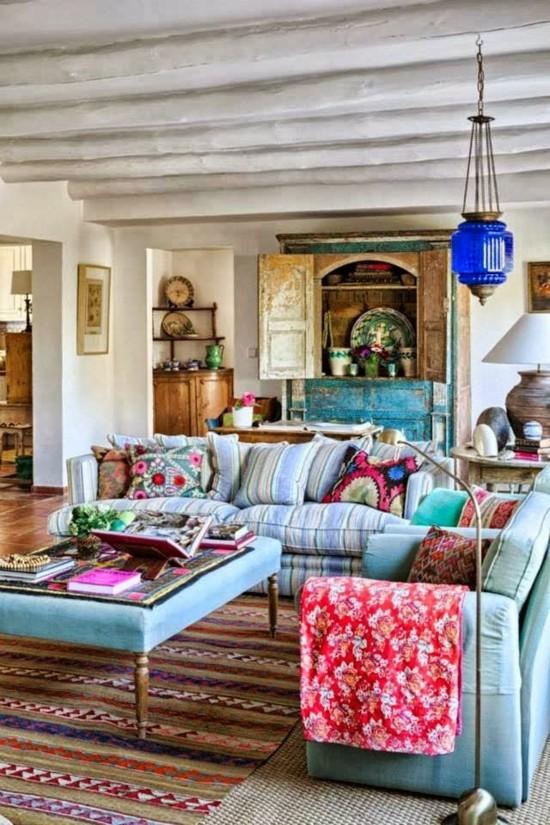 boho style orientalisch einrichten wohnzimmer