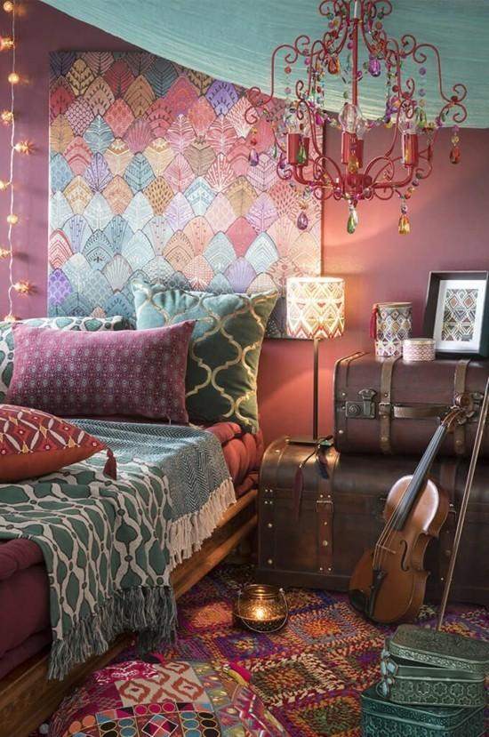 boho style schönes wohnzimmer einrichten