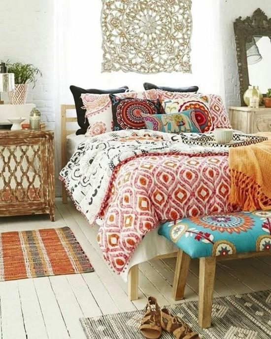 boho style schlafzimmer ideen