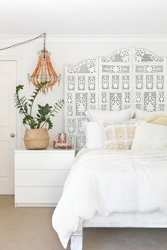 boho style schlafzimmer puristisch einrichten