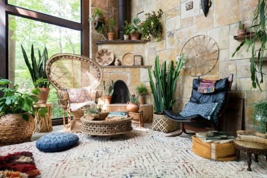 boho style wohnzimmer einrichten