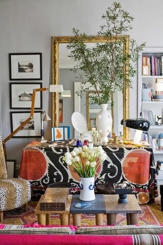 boho style wohnzimmer einrichtungsideen