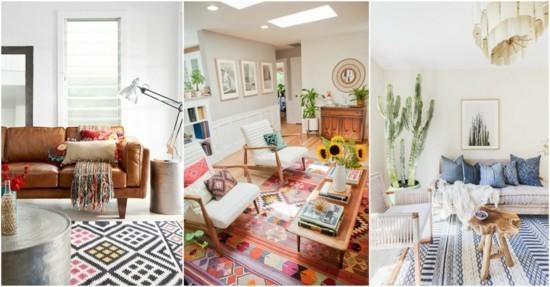 boho style wohnzimmer ideen