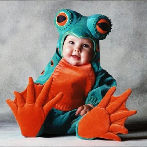 bunter frosch baby karneval kostüm