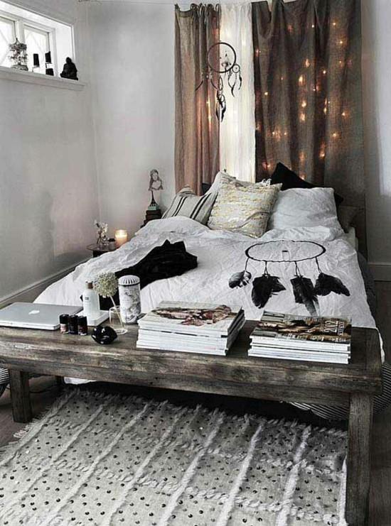 charmantes boho style schlafzimmer