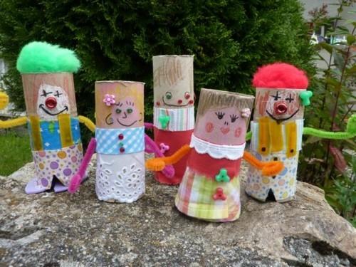 clown basteln mit kindern für fasching