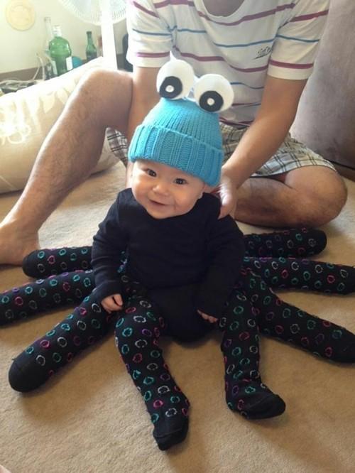 diy baby karneval kostüm idee spinne