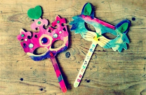 einfache masken basteln mit kindern