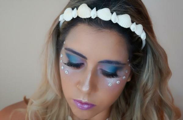 einfaches make up meerjungfrau schminken