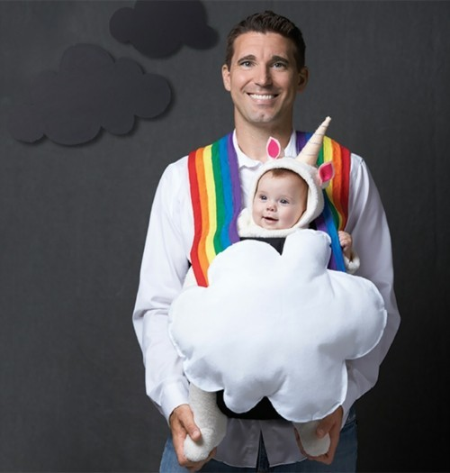 einhorn vater baby karneval kostüm