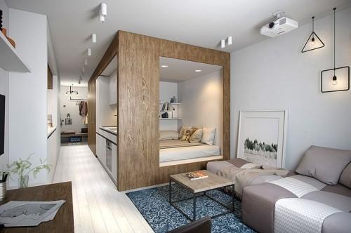 einzimmerwohnung einrichten 50 ideen zur modernisierung. Black Bedroom Furniture Sets. Home Design Ideas