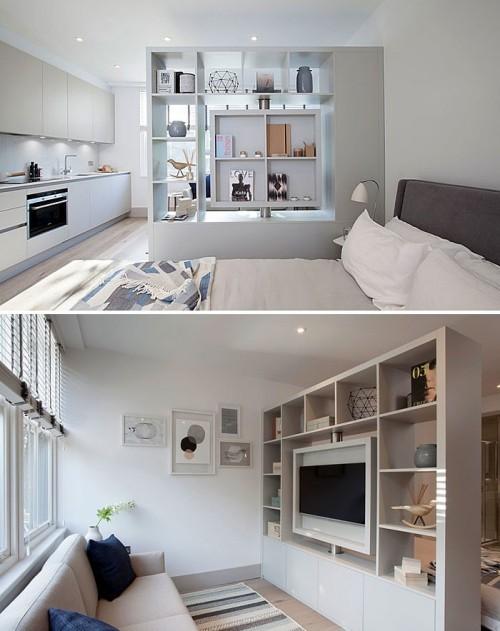 einzimmerwohnung einrichten weiße inneneinrichtung