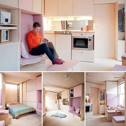einzimmerwohnung moderne neutrale farben