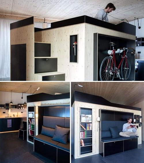 einzimmerwohnung tolle möbel mit stauraum