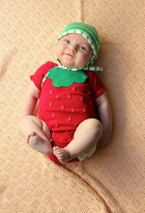 erdbeere baby karneval kostüm