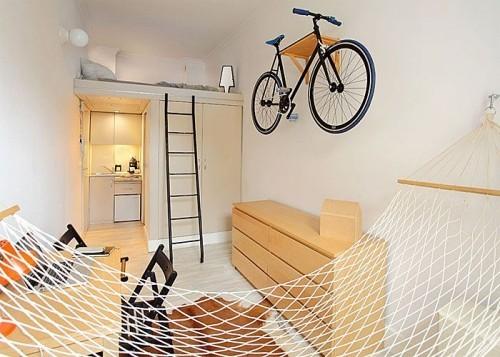 exotische ideen einzimmerwohnung einrichten