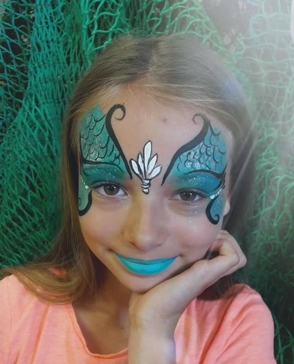 facepainting meerjungfrau schminken zum karneval