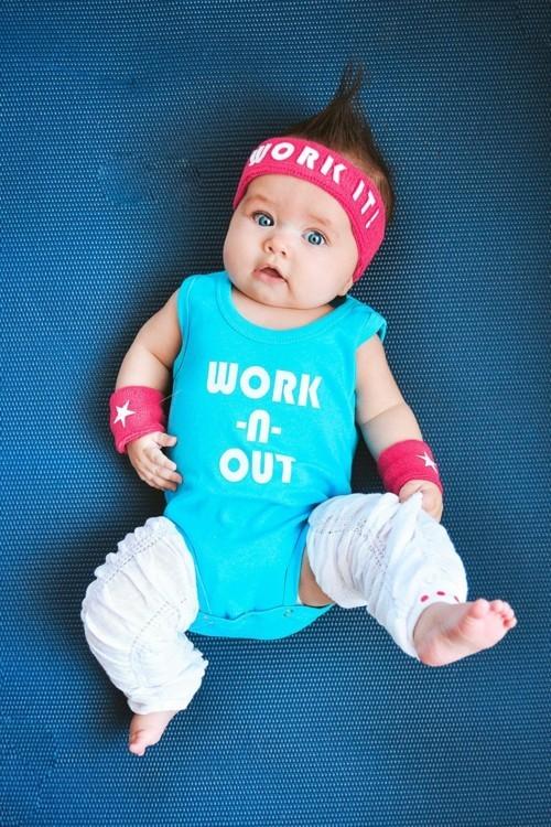 fitness baby karneval kostüm idee