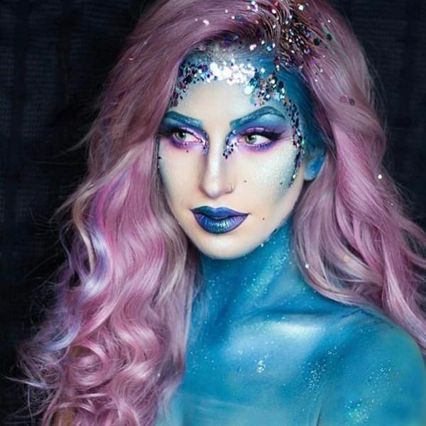 glitzernde Meerjungfrau schminken