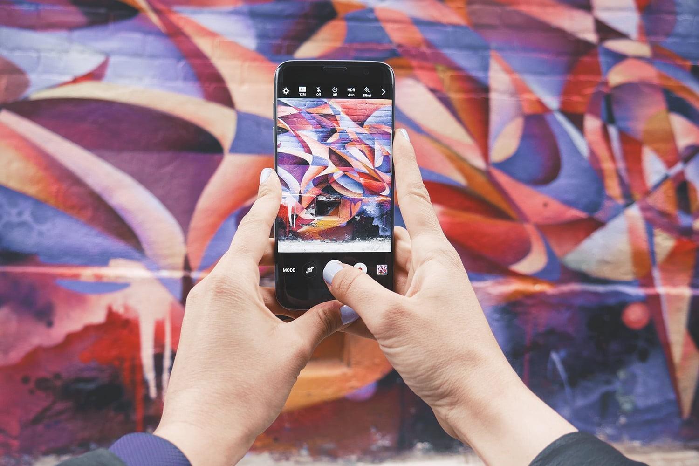 grafiti und verschiedene farben kamera app