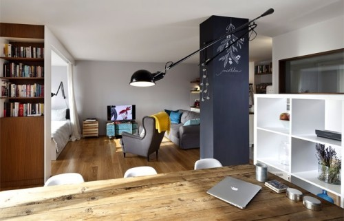 graue akzente einzimmerwohnung einrichten