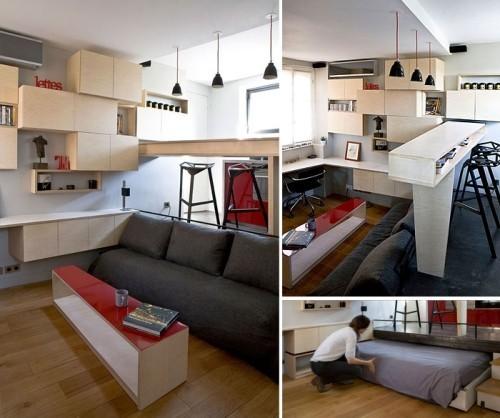 graue sofas einraumwohnung