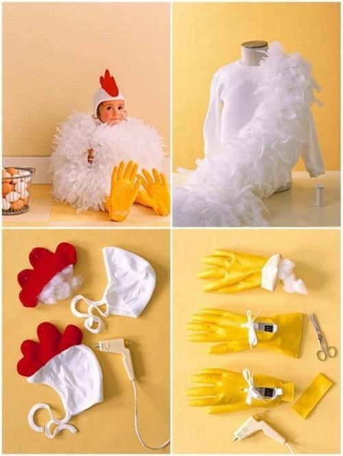 hahn baby karneval kostüm selber machen