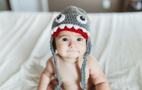hai häkelmütze baby karneval kostüm