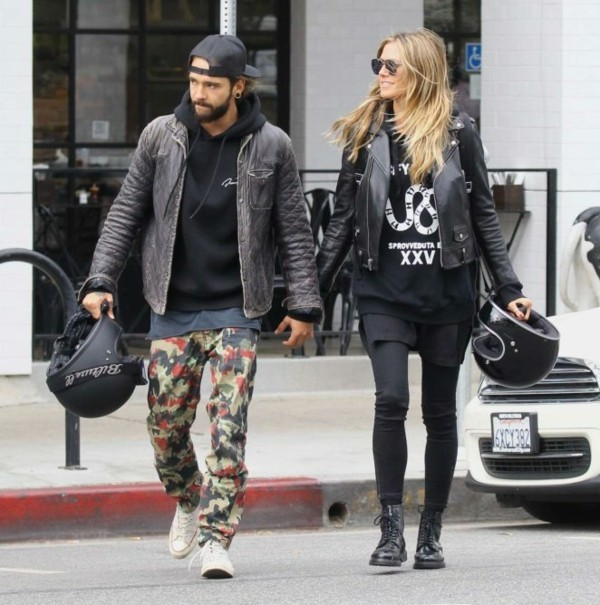 heidi klum und tom kaulitz joans on third in studio city