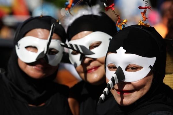 idee in schwarz weiß karnevalskostüme ideen