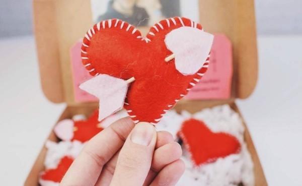 ideen aus stoff valentinstag ideen