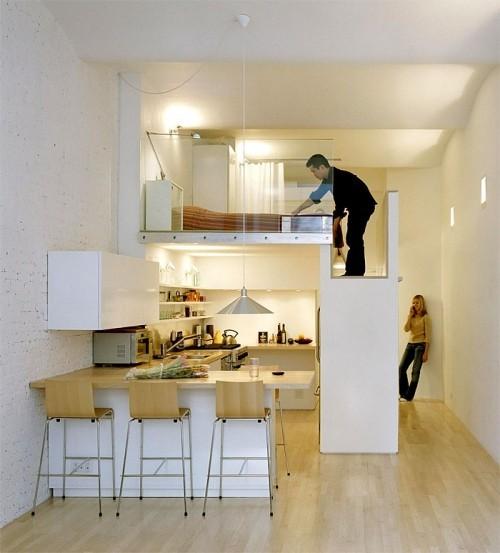 kleine küchenideen einzimmerwohnung